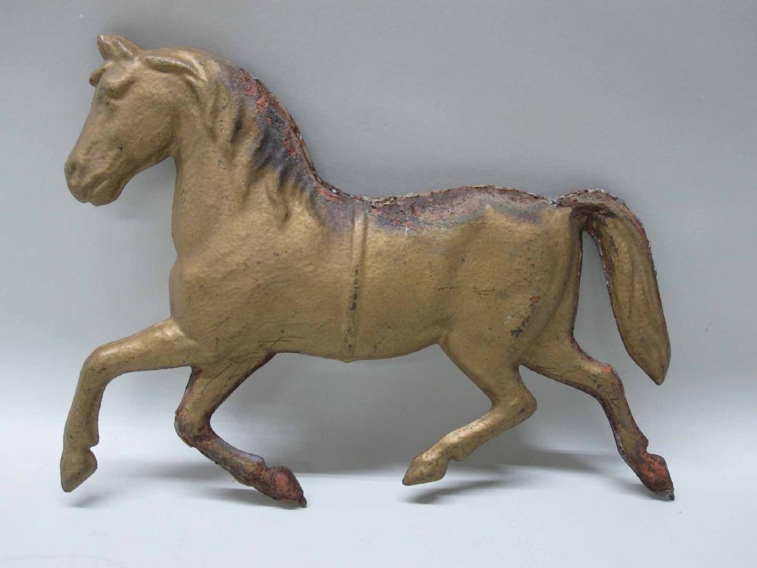 GILT METAL HORSE