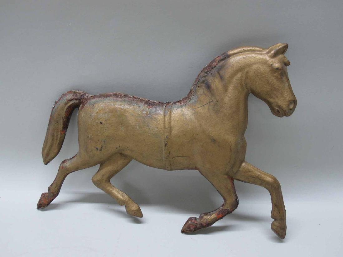 GILT METAL HORSE - 2
