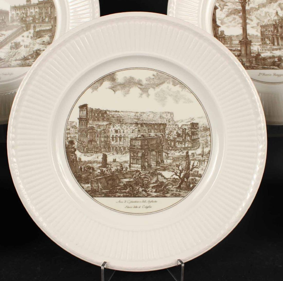 FIVE WEDGWOOD TRANSFERWARE PLATES - 2