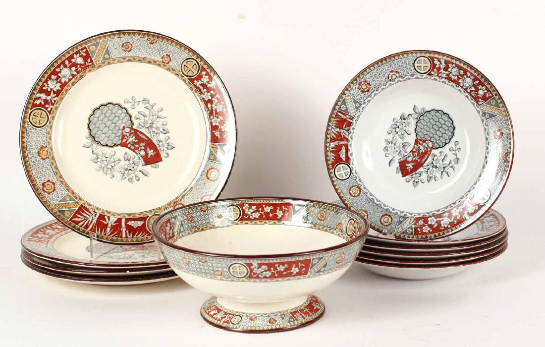 GROUP OF ASSORTED TRANSFERWARE TABLE ARTICLES