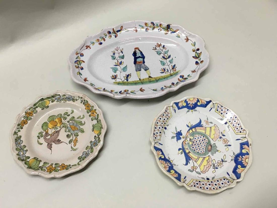 DUTCH PLATTER TOGETHER WITH TWO PLATES