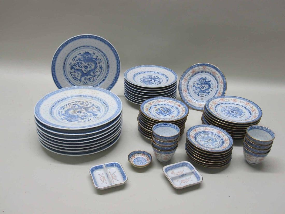 PARTIAL SET OF CHINESE DINNERWARE - 5