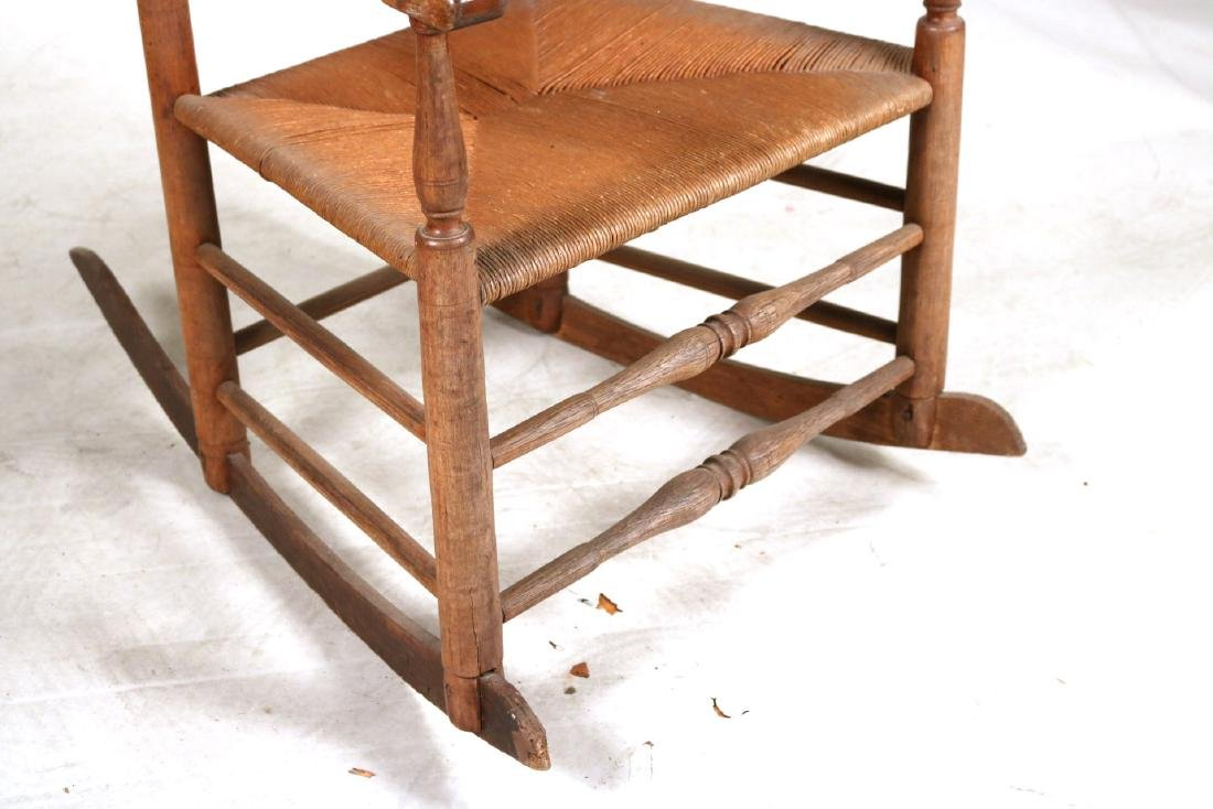 TWO LADDERBACK ROCKING CHAIRS - 5
