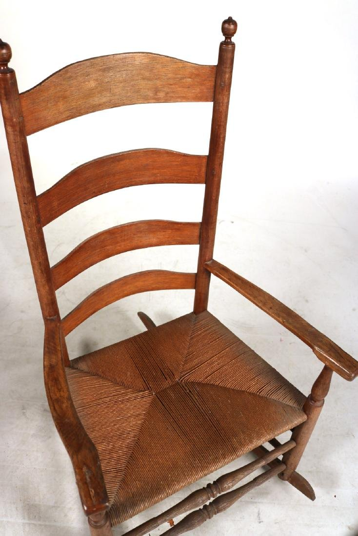 TWO LADDERBACK ROCKING CHAIRS - 6