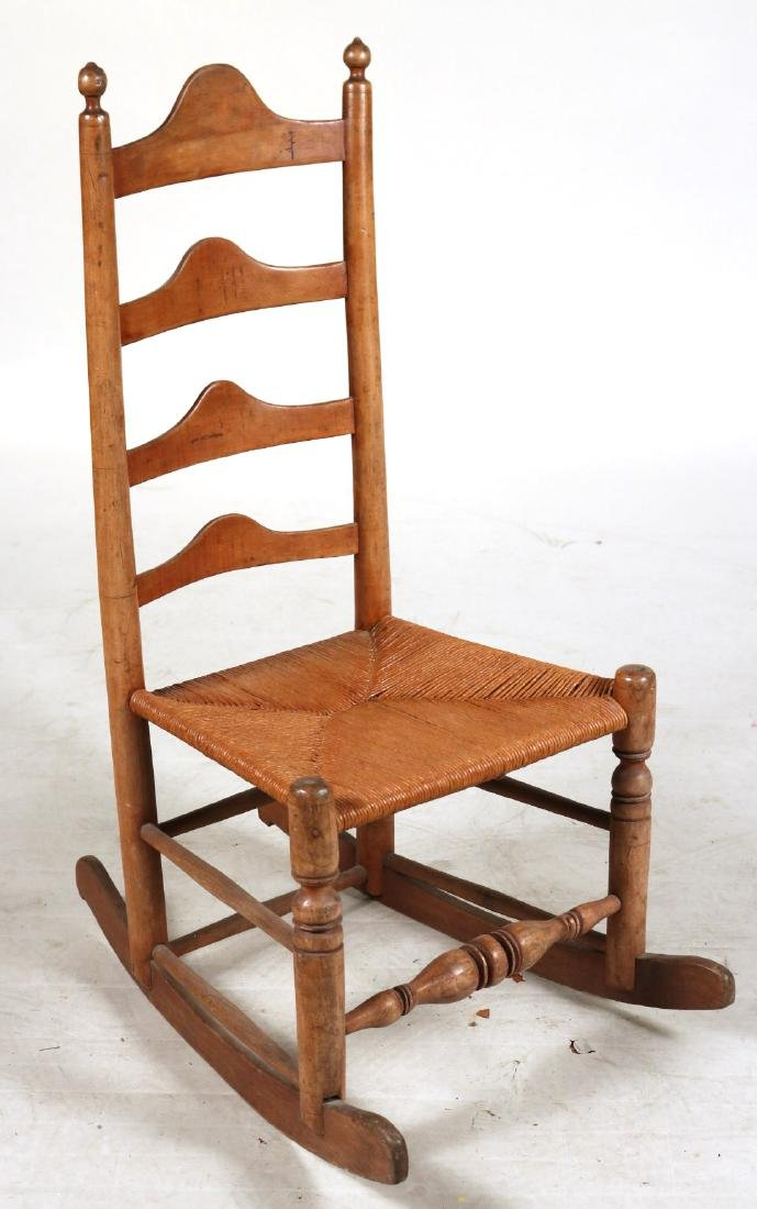 TWO LADDERBACK ROCKING CHAIRS - 7
