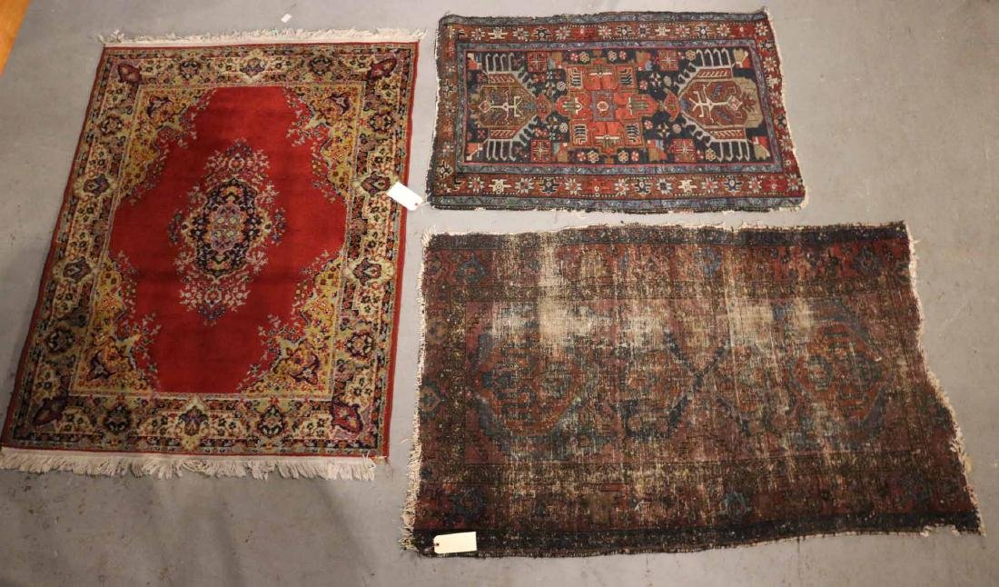 THREE CAUCASIAN RUGS