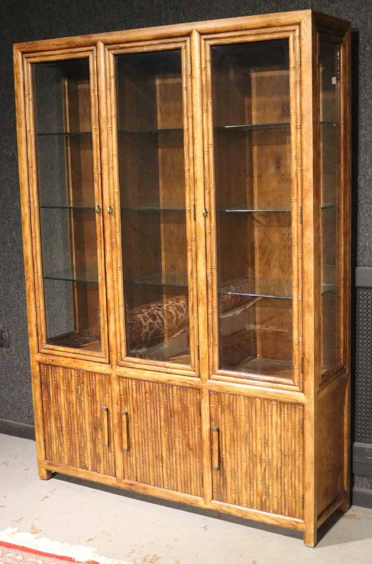 FAUX BAMBOO DISPLAY CABINET