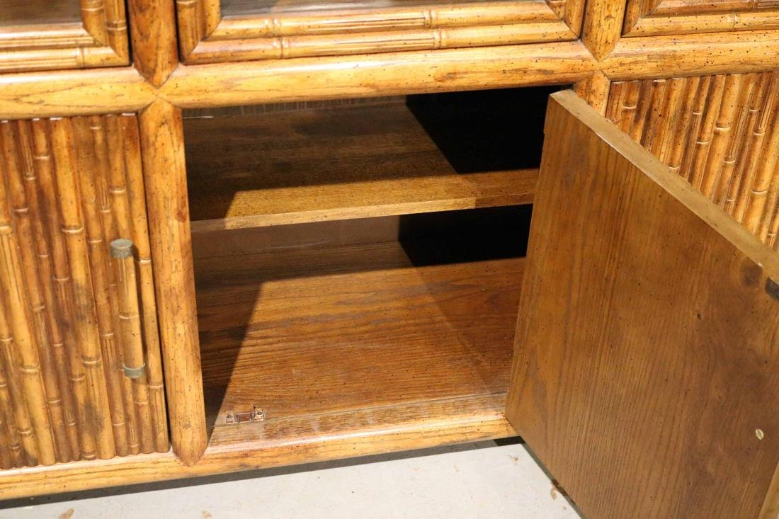 FAUX BAMBOO DISPLAY CABINET - 5