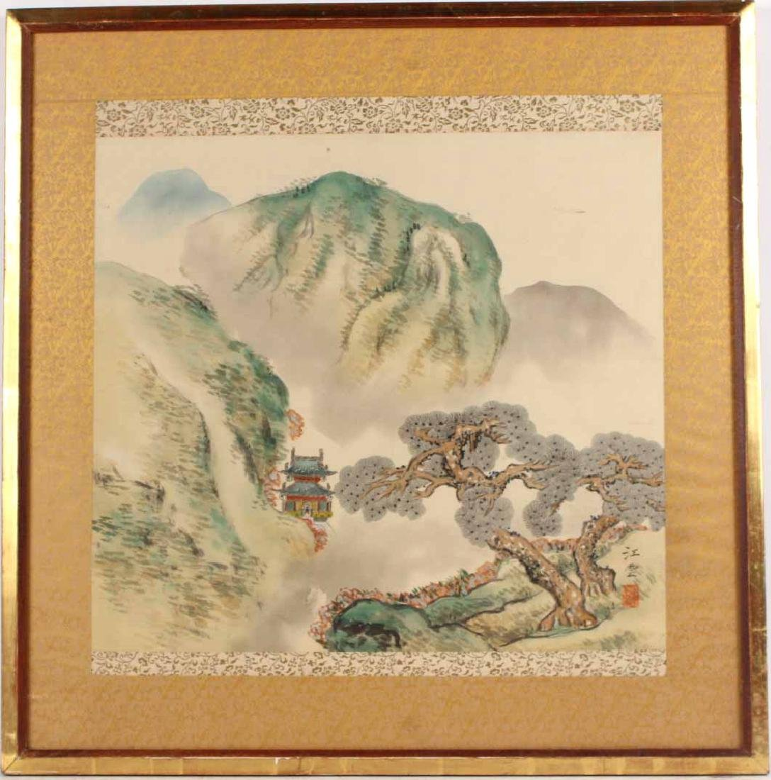 ORIENTAL PAINTED SILK SCROLL