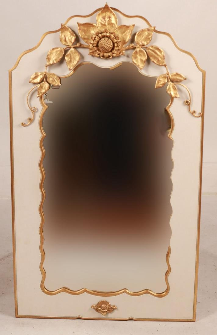 GOLD AND WHITE PAINTED PIER MIRROR