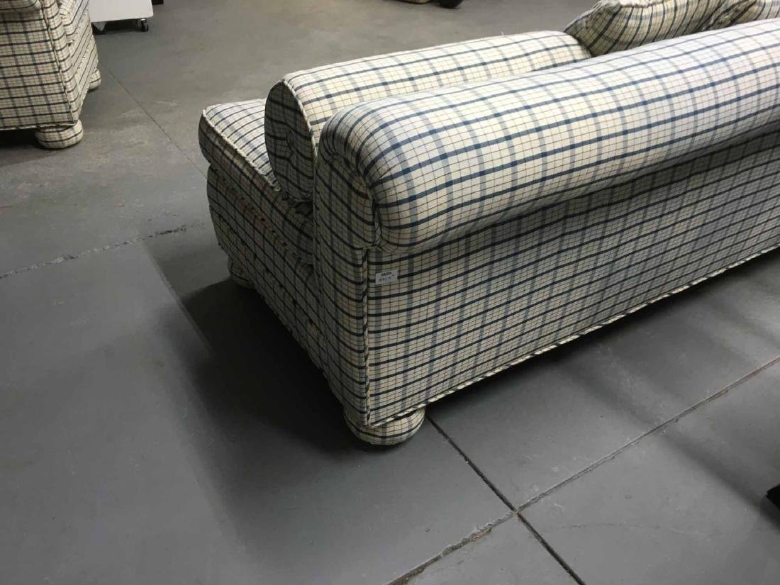 THREE UPHOLSTERED DAY BEDS - 4