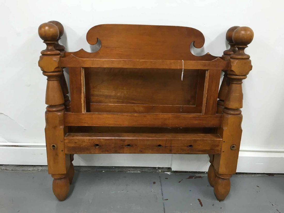 EMPIRE STYLE MAPLE TWIN-SIZED BEDSTEAD