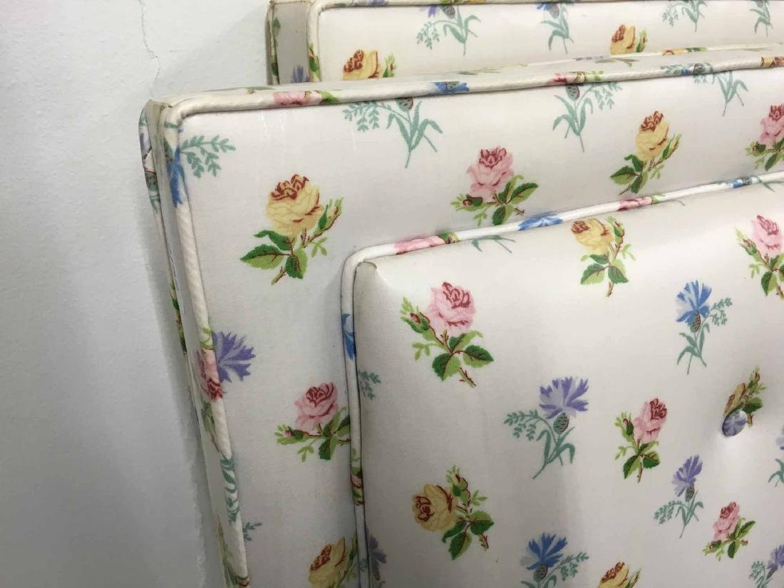 PAIR OF FLORAL DECORATED TWIN-SIZE HEADBOARDS - 2