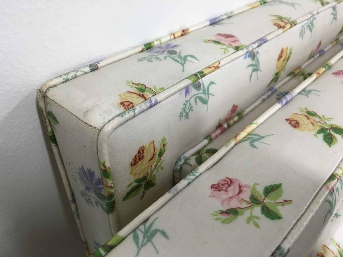 PAIR OF FLORAL DECORATED TWIN-SIZE HEADBOARDS - 3