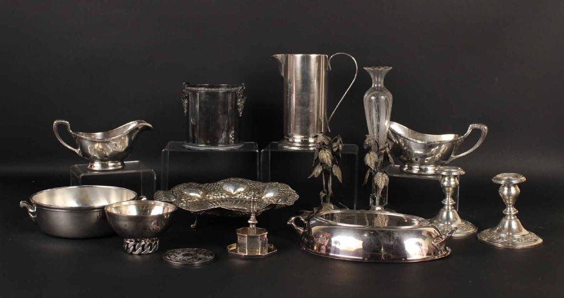 GROUP OF SILVER PLATED TABLE ARTICLES