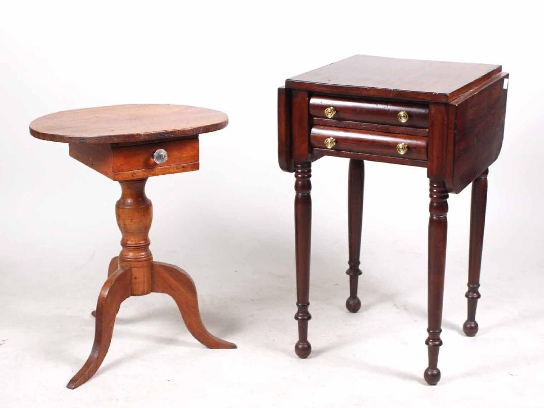 FEDERAL MAHOGANY DROP LEAF WORK TABLE