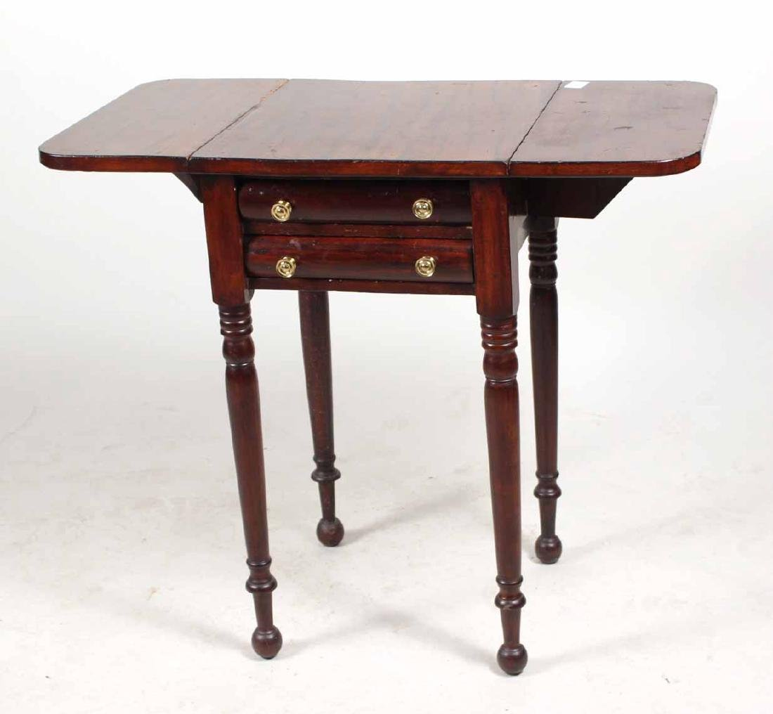 FEDERAL MAHOGANY DROP LEAF WORK TABLE - 3