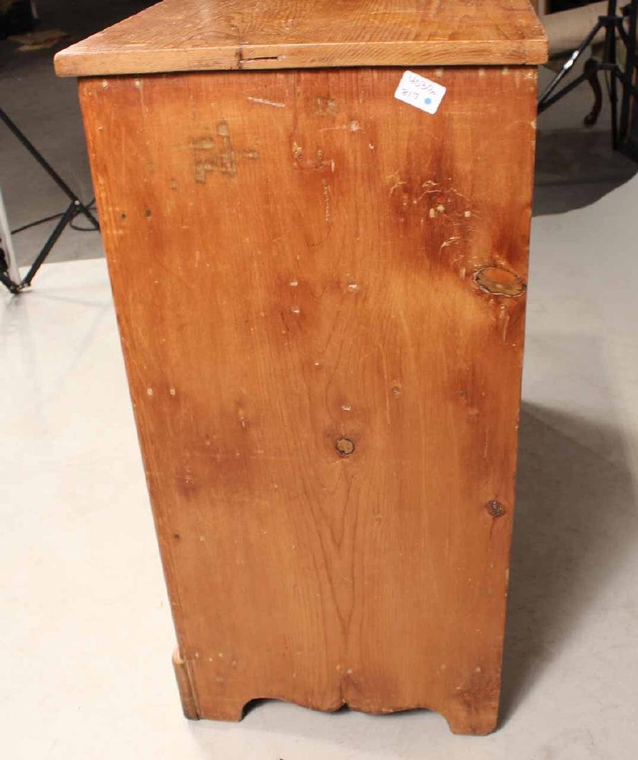 SCRUBBED PINE CHEST OF DRAWERS - 6