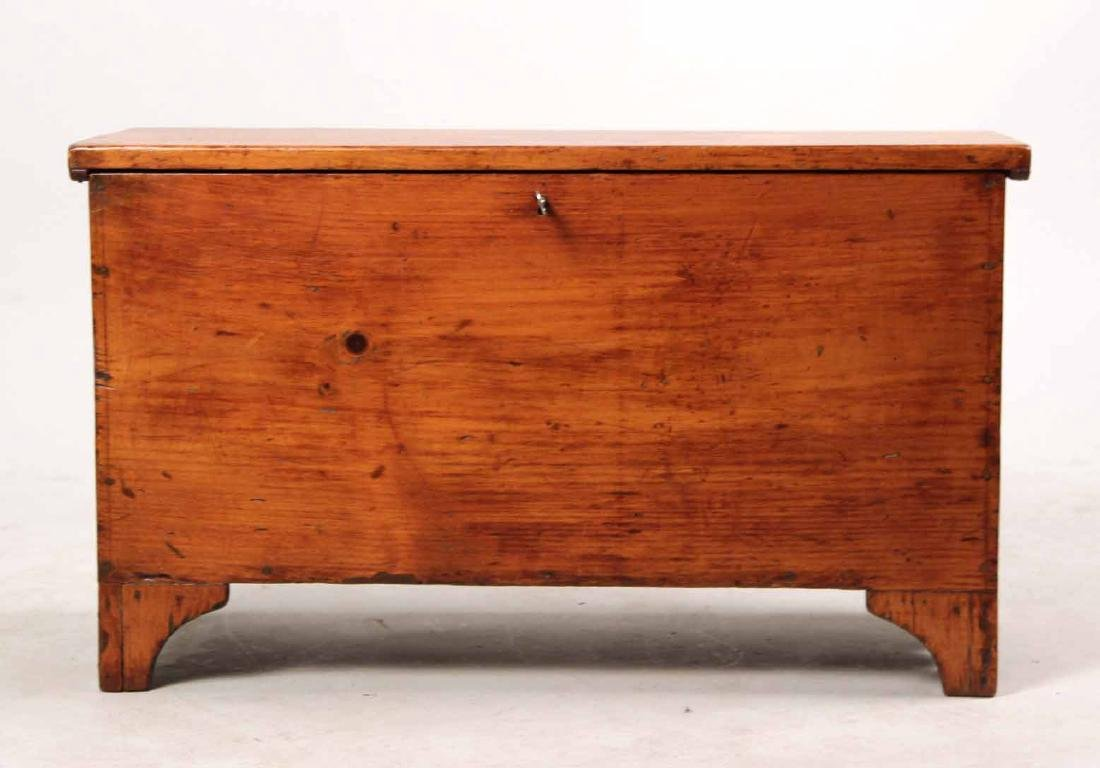 STAINED PINE DIMINUTIVE BLANKET CHEST - 2