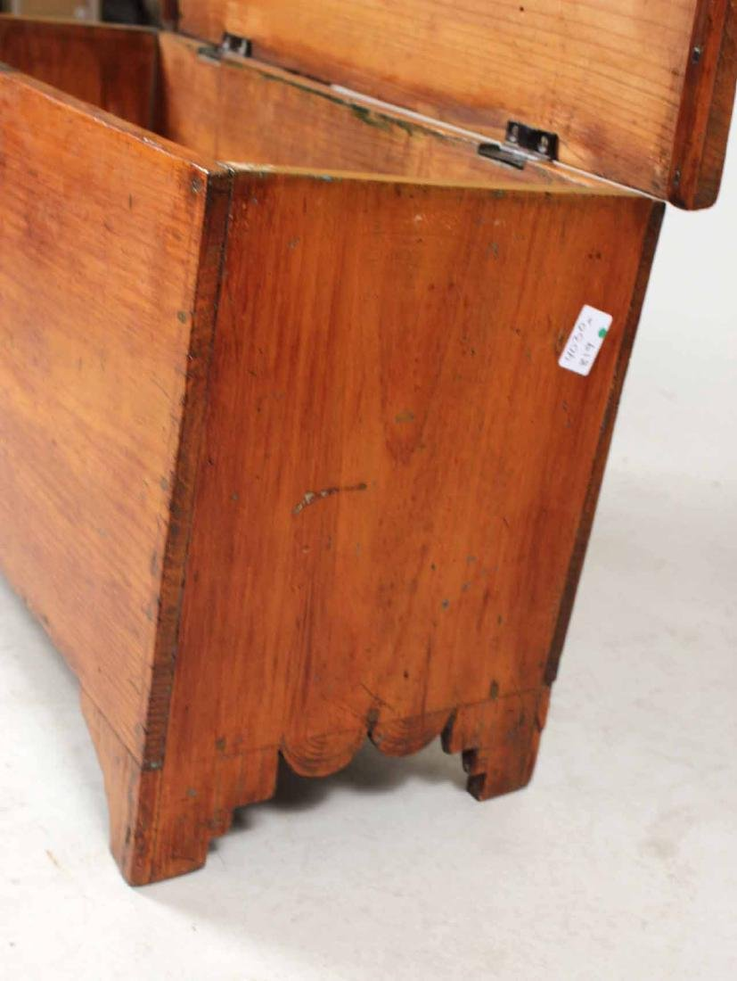 STAINED PINE DIMINUTIVE BLANKET CHEST - 4