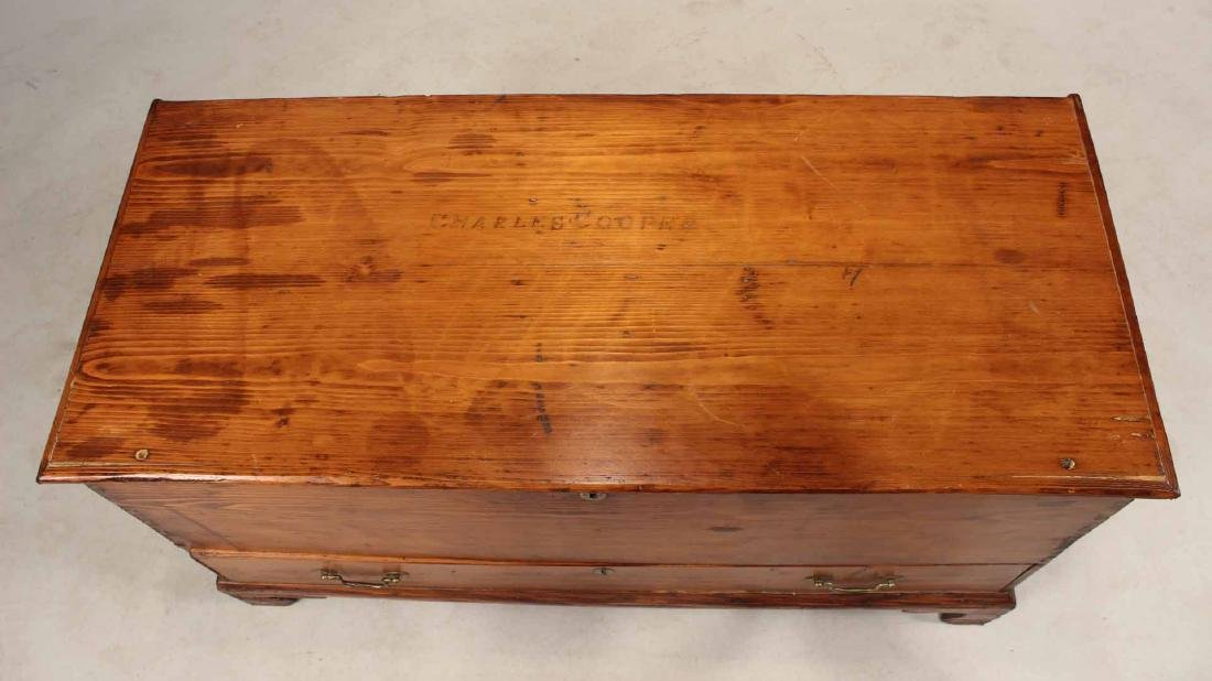 FEDERAL STAINED PINE BLANKET CHEST - 6