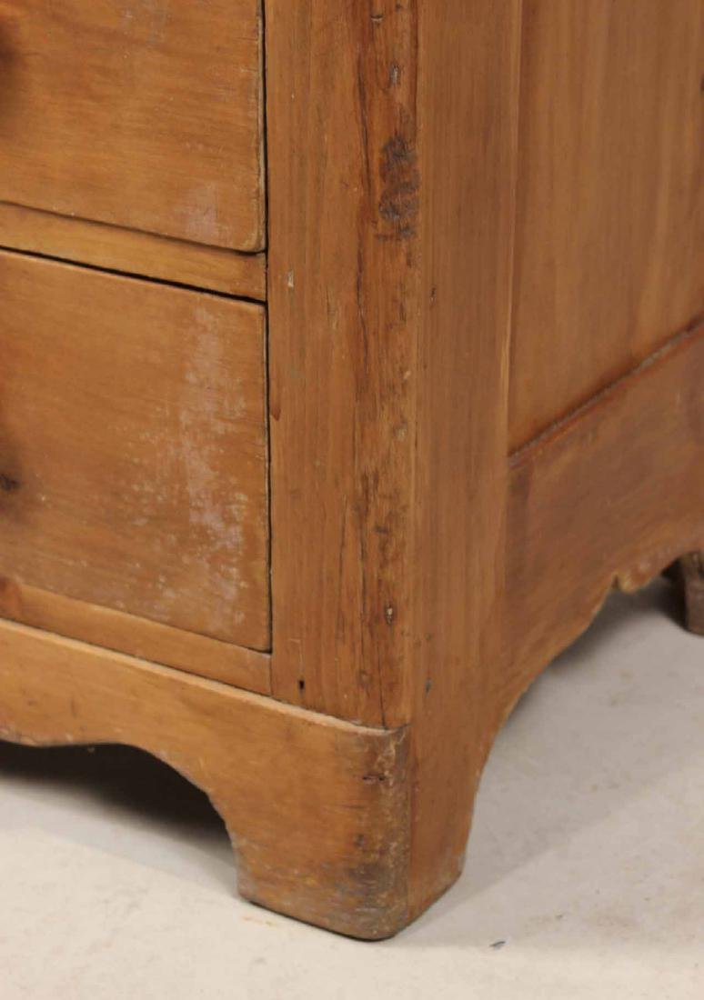SCRUBBED PINE CHEST OF DRAWERS - 4