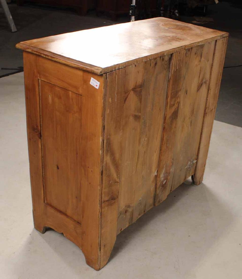 SCRUBBED PINE CHEST OF DRAWERS - 7