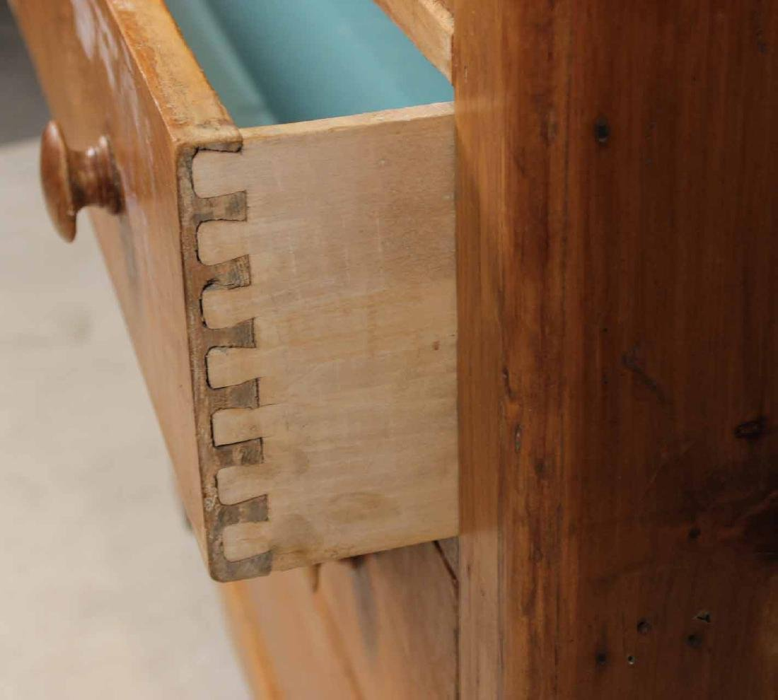 SCRUBBED PINE CHEST OF DRAWERS - 8