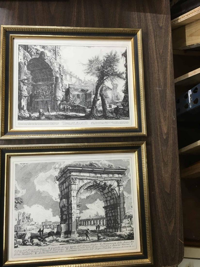 TWO FRAMED NEOCLASSICAL BLACK AND WHITE PRINTS