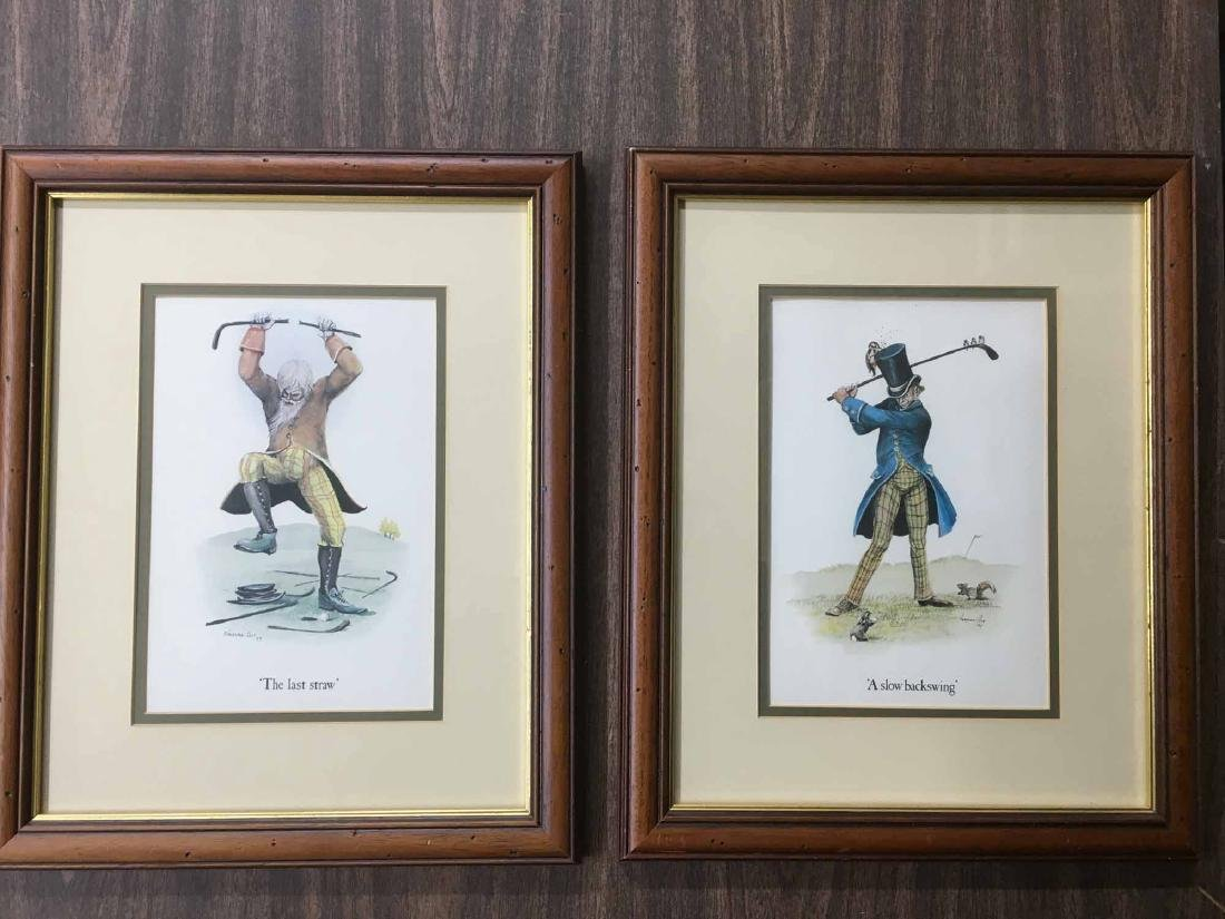 TWO NORMAN ORR'S CLASSICAL GOLF PRINTS