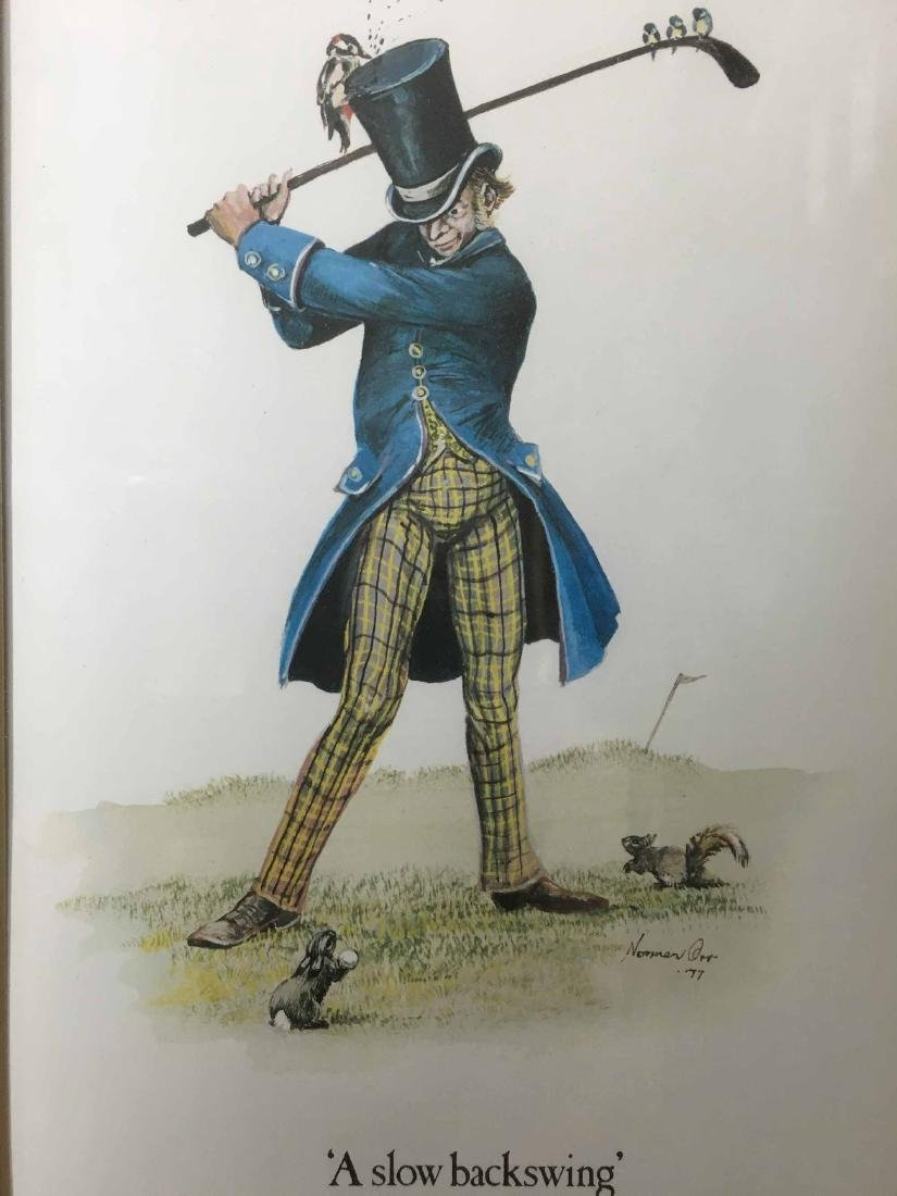 TWO NORMAN ORR'S CLASSICAL GOLF PRINTS - 2