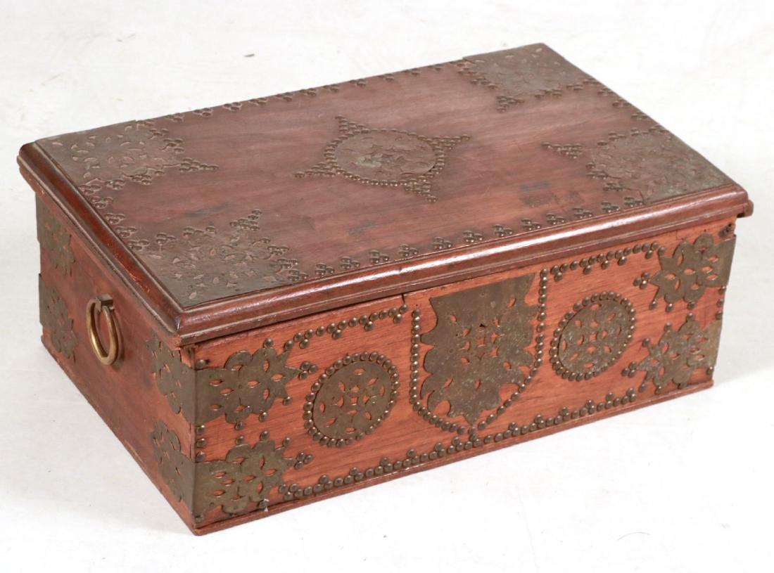 BRASS MOUNTED DOCUMENT BOX