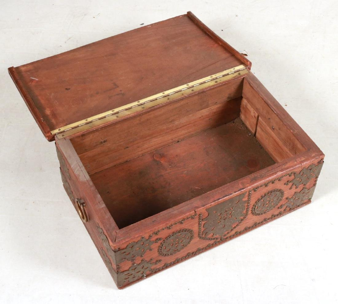 BRASS MOUNTED DOCUMENT BOX - 6