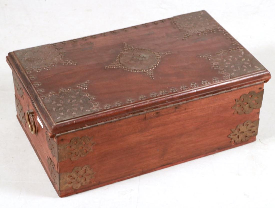 BRASS MOUNTED DOCUMENT BOX - 8