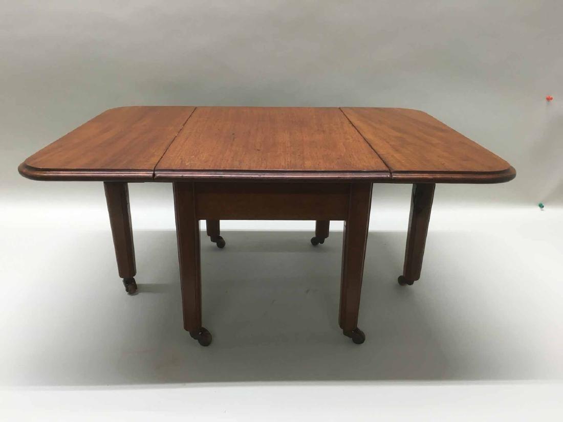 DIMINUTIVE WALNUT DROP LEAF TABLE