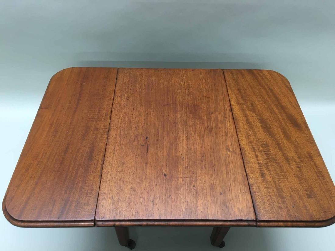DIMINUTIVE WALNUT DROP LEAF TABLE - 2
