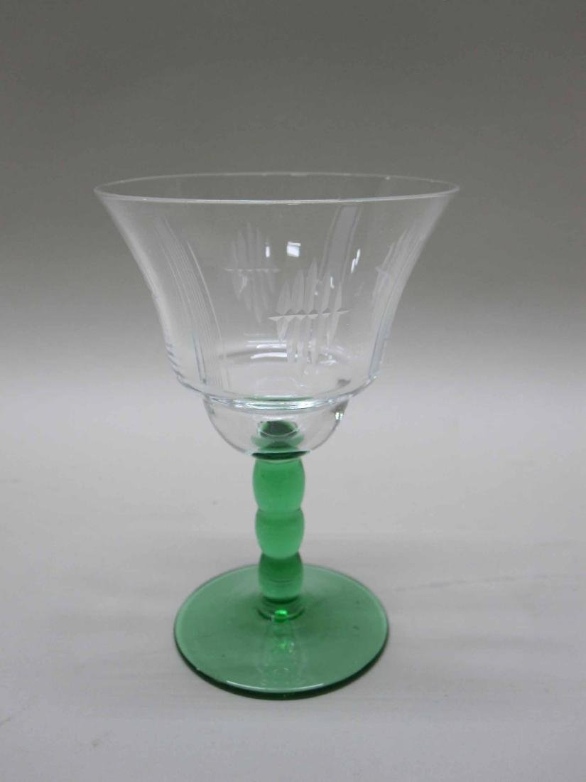 GROUP OF ASSORTED GLASS STEMWARE - 2