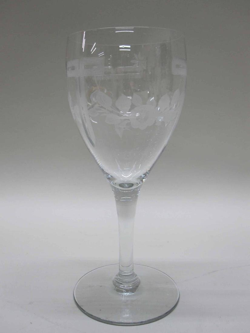 GROUP OF ASSORTED GLASS STEMWARE - 3