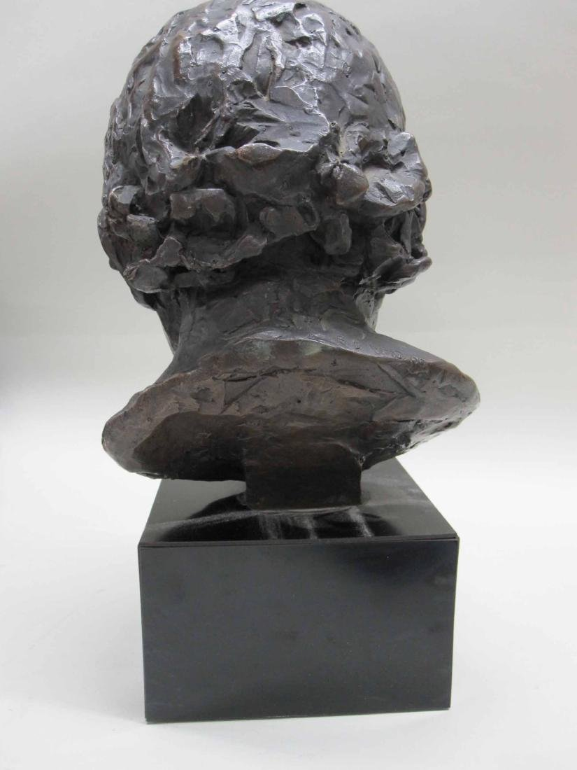 PATINATED METAL BUST OF A CHILD - 4
