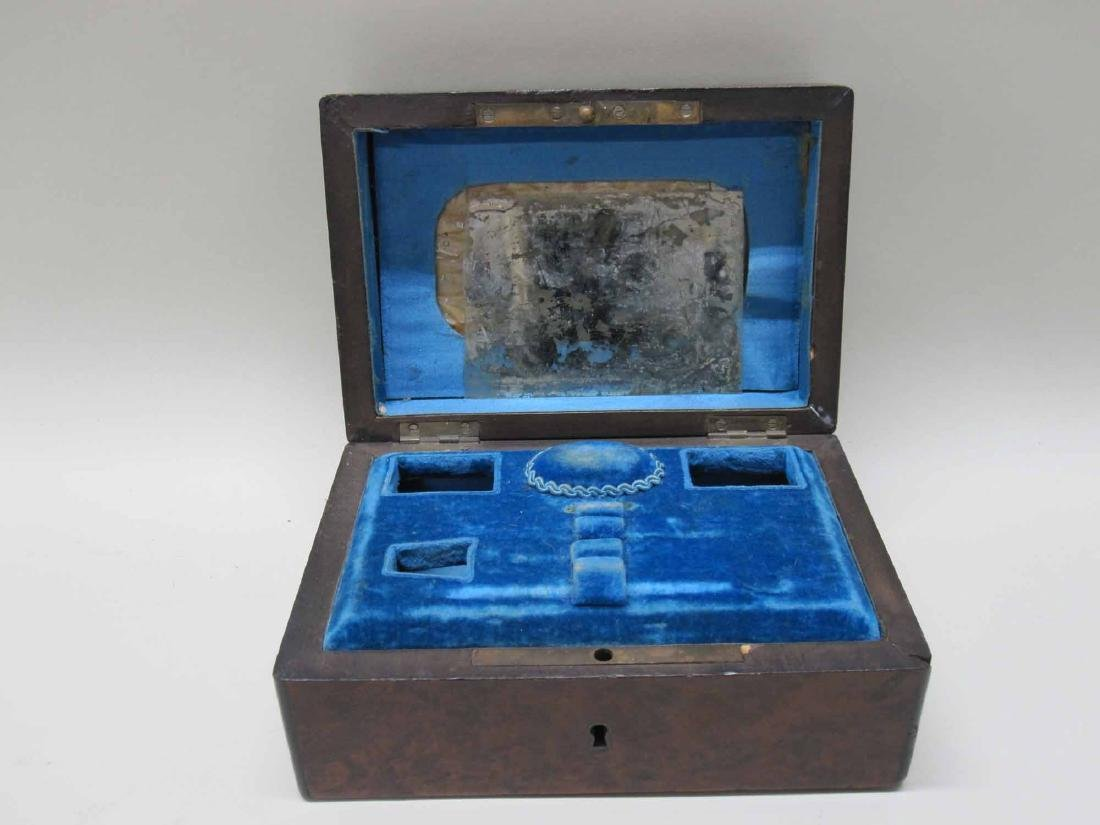 VICTORIAN CARVED AND INLAID WOOD SEWING BOX - 3