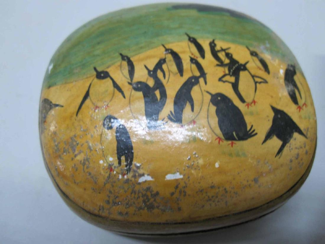 GROUP OF PAINTED DECORATED BOXES AND EGGS - 2