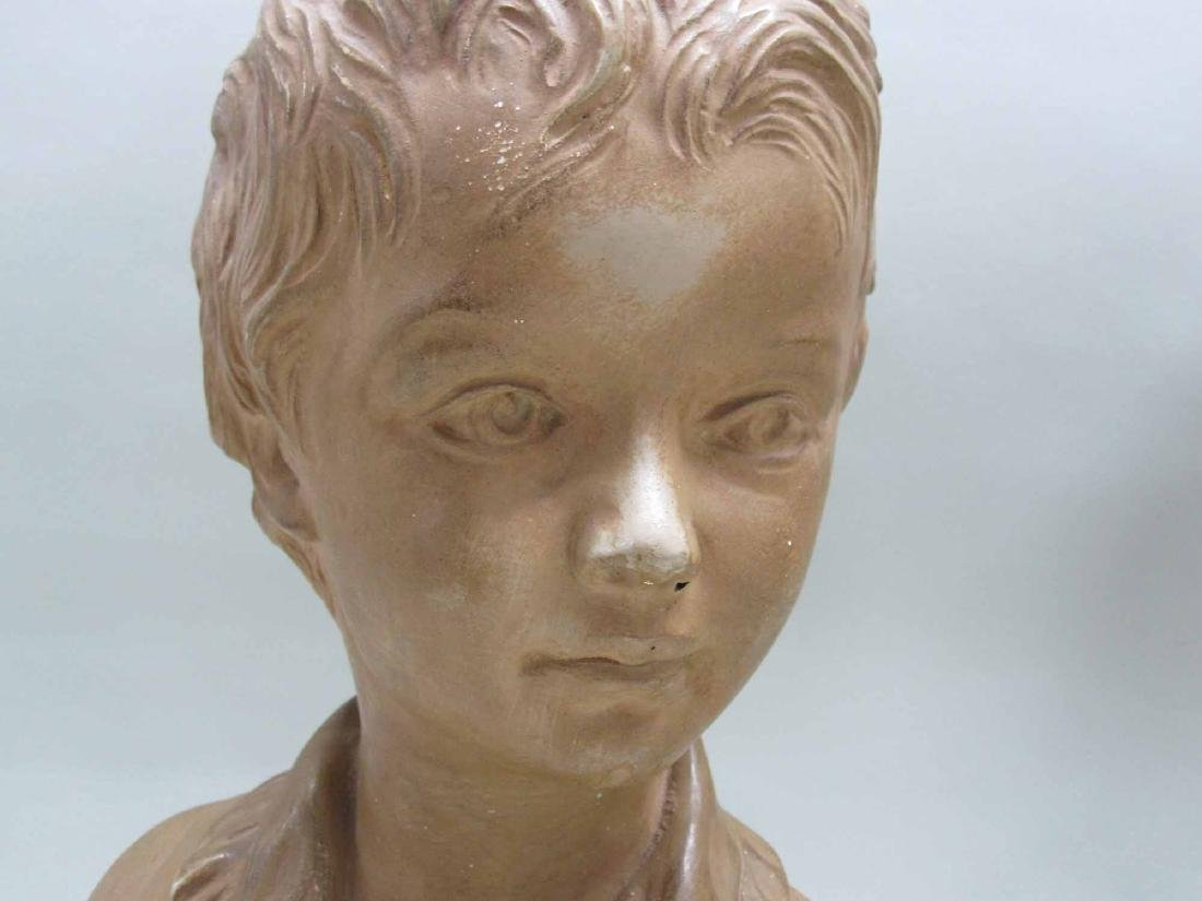 TWO COMPOSITION BUST OF YOUNG GIRL AND BOY - 2