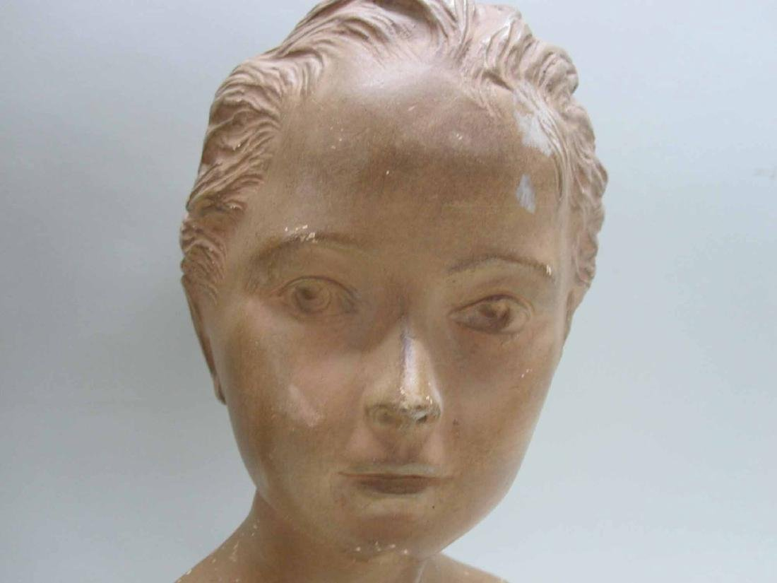 TWO COMPOSITION BUST OF YOUNG GIRL AND BOY - 3