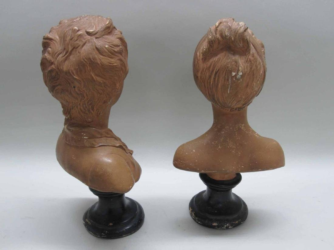 TWO COMPOSITION BUST OF YOUNG GIRL AND BOY - 5