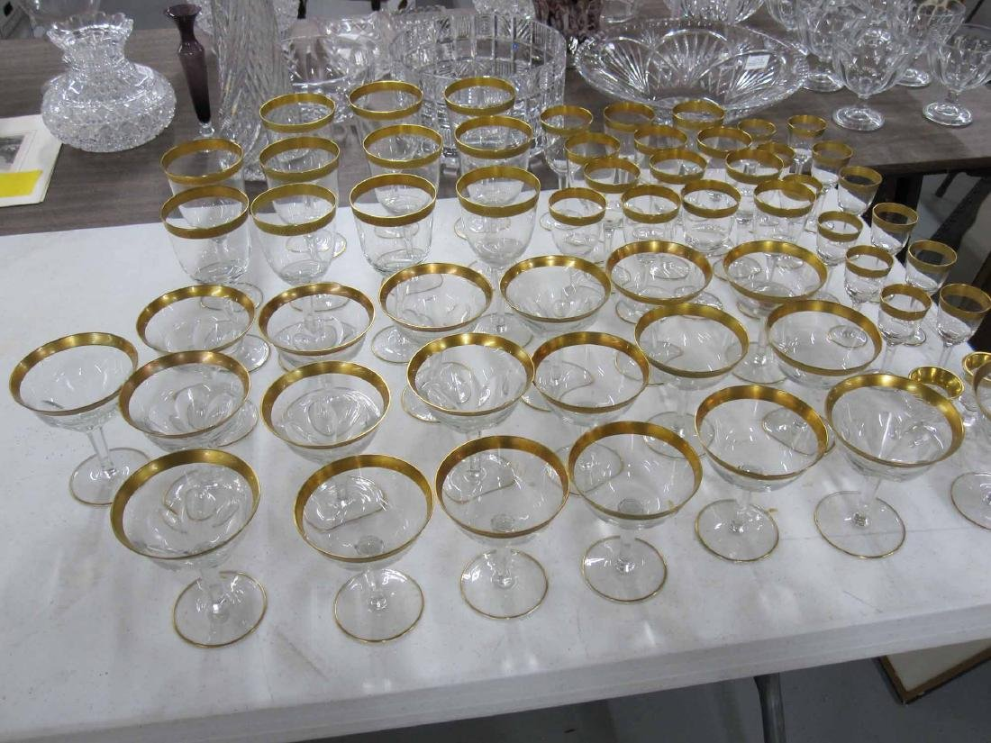 GROUP OF ASSORTED GILT RIMMED STEMWARE