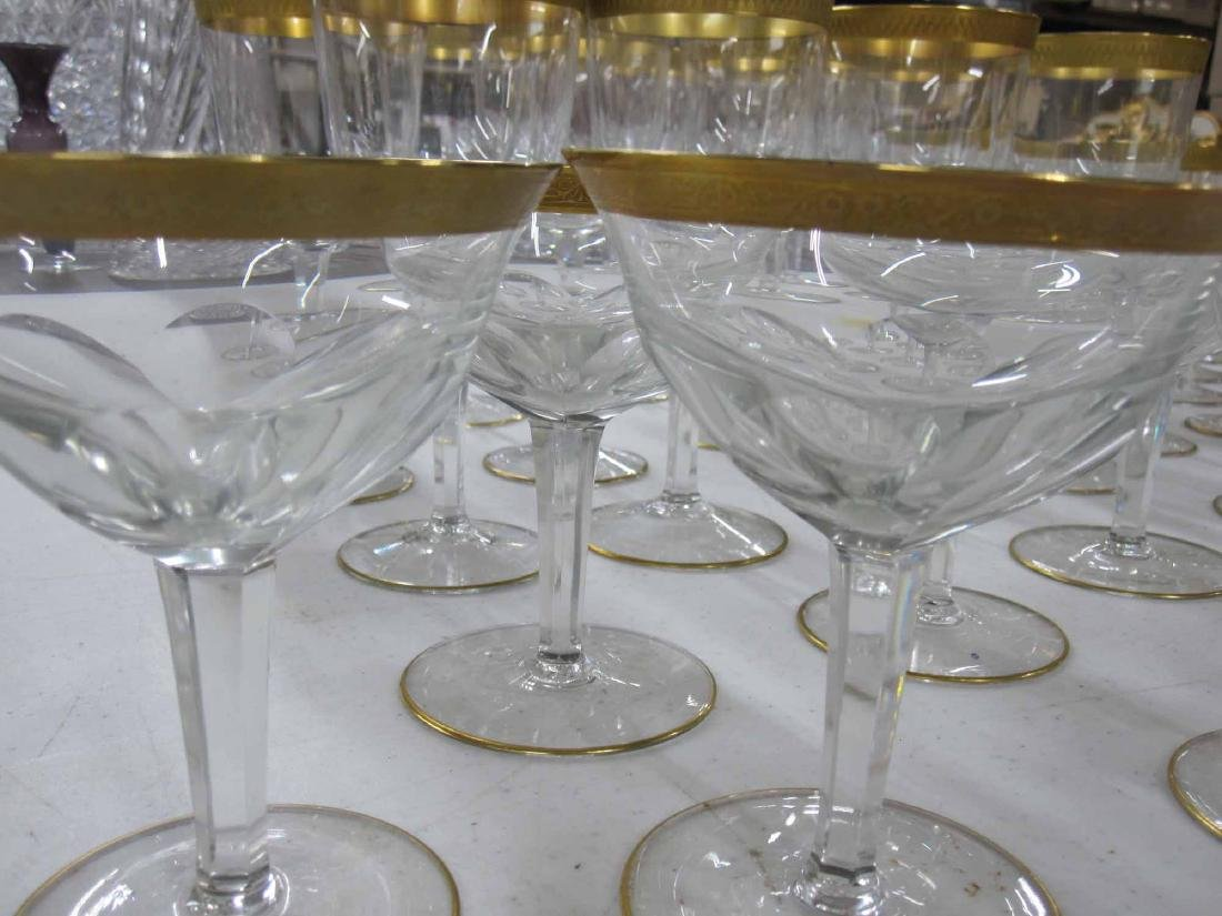 GROUP OF ASSORTED GILT RIMMED STEMWARE - 2