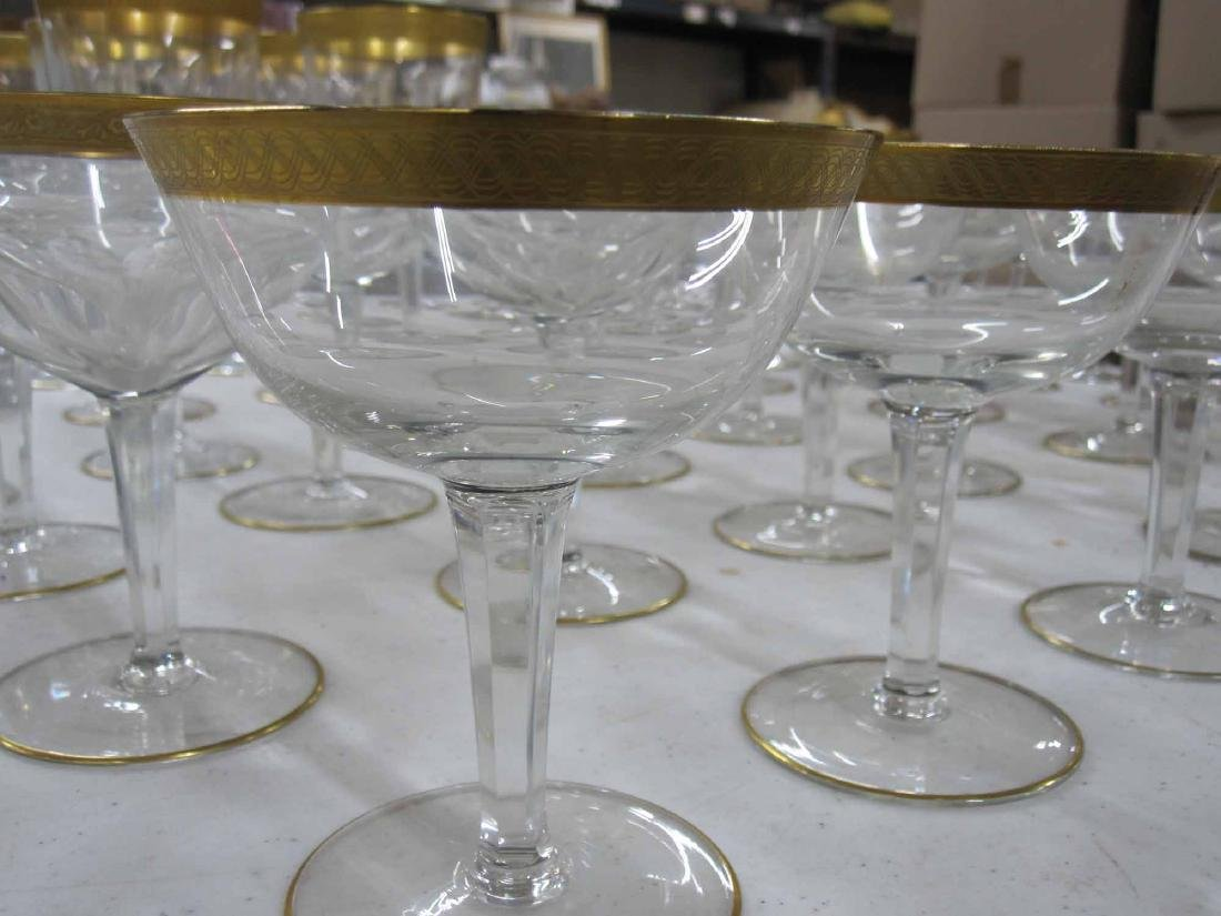 GROUP OF ASSORTED GILT RIMMED STEMWARE - 3
