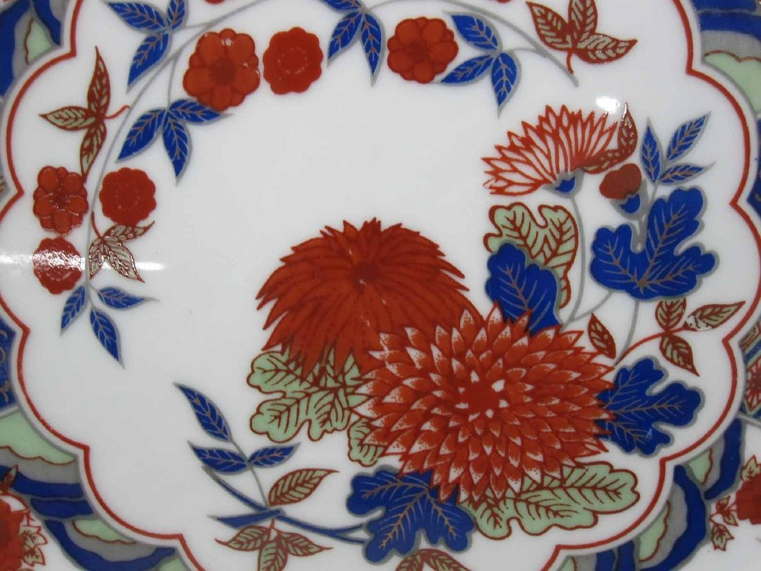 SET OF EIGHT ORIENTAL STYLE PLATES - 2