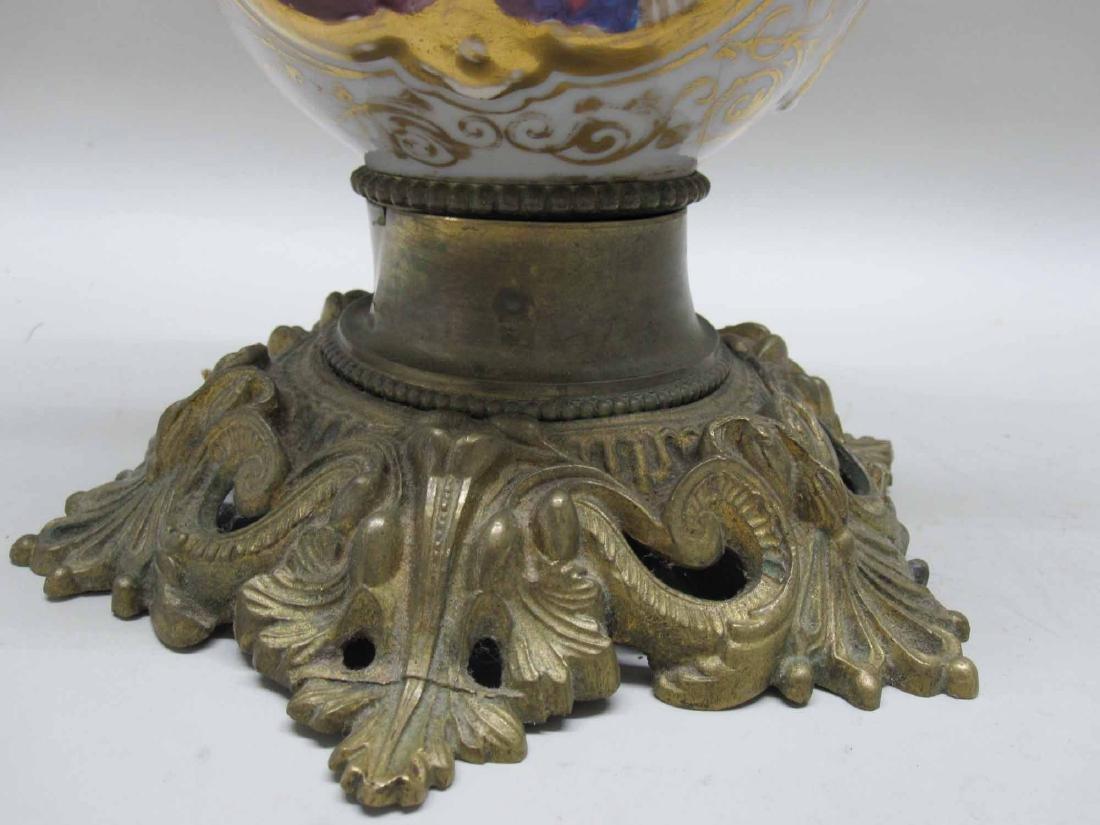 FRENCH GILT METAL TABLE LAMP - 3