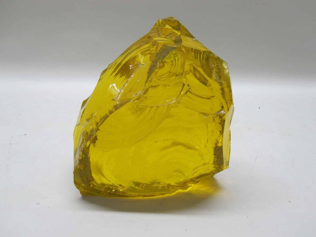 LARGE GOLDEN YELLOW PIECE OF SLAG GLASS
